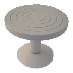 TOURNETTE DE TABLE EN ACIER DIA 220 mm - HAUT 180 mm