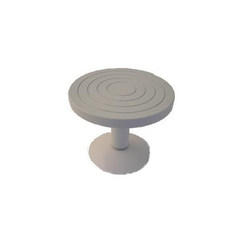 Photo TOURNETTE DE TABLE EN ACIER DIA 220 mm - HAUT 180 mm - achat selles-de-sculpteur en ligne avec Cigale et Fourmi