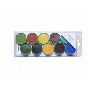 Photo PALETTE AQUA CERAM VERTE N°1 - SANS PLOM - achat palette-aqua-ceram-crayons-oxydes en ligne avec Cigale et Fourmi