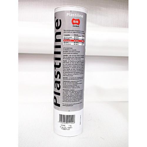 Photo PLASTILINE GRISE DURE 1760T - 1 KG - achat plastiline en ligne avec Cigale et Fourmi
