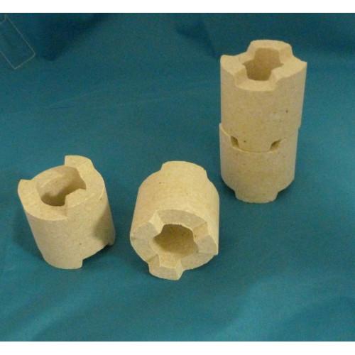 Quille réfractaire encastrable, diamètre 45 mm, hauteur 46 mm pour four céramique - Matériel d'enfournement - Cigale et Fourmi