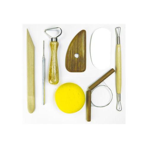 Photo KIT DU POTIER : 8 OUTILS MODELAGE - achat outils-de-modelage en ligne avec Cigale et Fourmi
