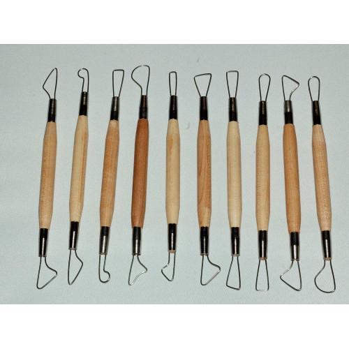 Photo KIT DE 10 MIRETTES FIL ROND - PM - 15 cm - achat outils-de-modelage en ligne avec Cigale et Fourmi