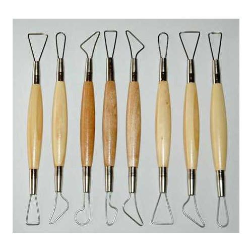 Photo KIT DE 8 MIRETTES FIL ROND - GM 20 cm - achat outils-de-modelage en ligne avec Cigale et Fourmi