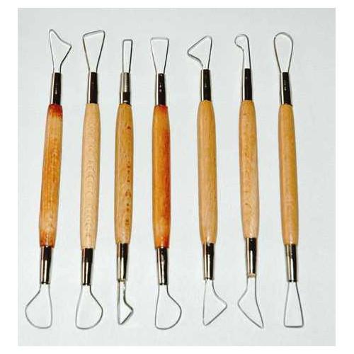 Photo KIT DE 7 MIRETTES BORDS COUPANT-PM-15 cm - achat outils-de-modelage en ligne avec Cigale et Fourmi