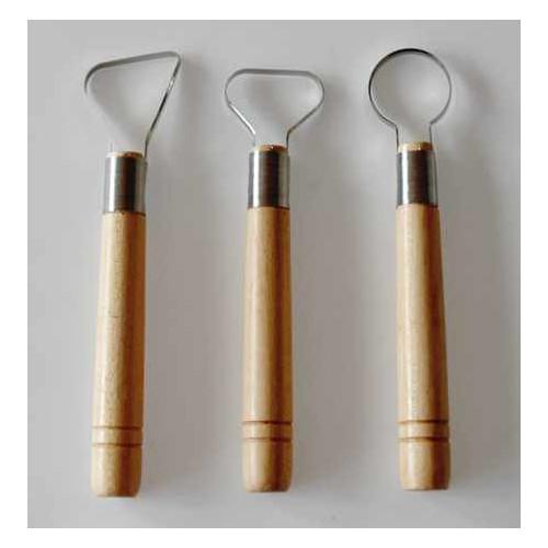 Photo KIT DE 3 MIRETTES TRES LARGE - BORD COUPANT - achat outils-de-modelage en ligne avec Cigale et Fourmi