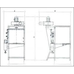 CABINE D'EMAILLAGE A RIDEAU D'EAU A80 - 230V MONO - Matériel d'atelier - Cigale et Fourmi