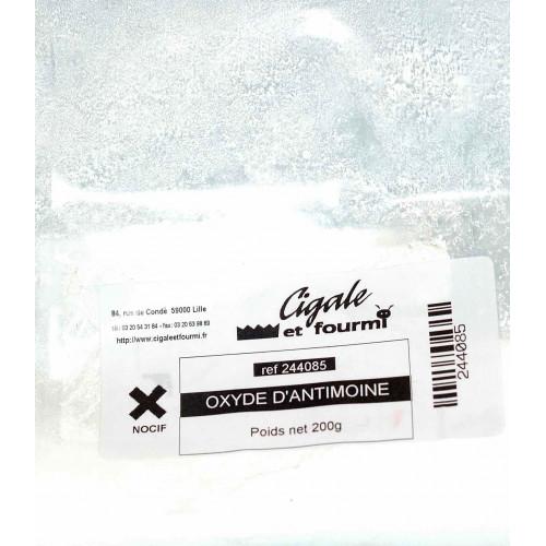 Photo OXYDE D'ANTIMOINE - 200g - achat oxydes-metalliques en ligne avec Cigale et Fourmi