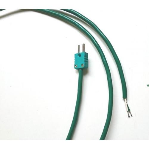 Photo CORDON DE COMPENSATION TYPE K LONGUEUR 1,5 m + CONNECTEUR MINI MALE - achat materiaux-pour-construire-son-four-raku en ligne avec Cigale et Fourmi