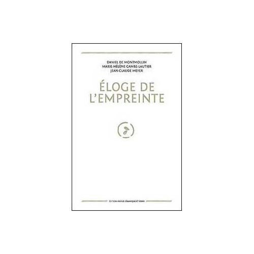Photo ELOGE DE L'EMPREINTE - DANIEL DE MONTMOLLIN - achat livres-sur-l-email-ceramique en ligne avec Cigale et Fourmi