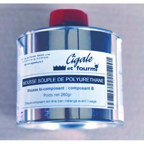 Photo MOUSSE SOUPLE POLYURETHANE A+B 1Kg - achat resines-mousse-polyurethane-et-mat-de-verre en ligne avec Cigale et Fourmi