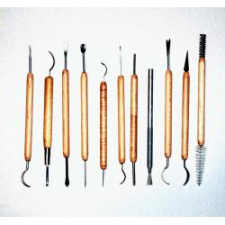 KIT DE 11 OUTILS DE MODELAGE C51 - Outils de modelage - Cigale et Fourmi