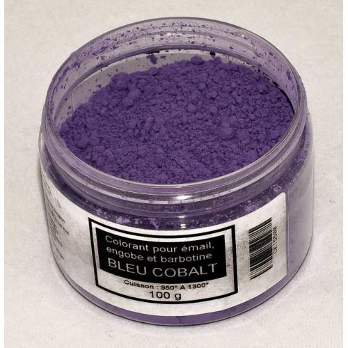 Photo COLORANT BLEU COBALT EMAUX & BARBOTINE - 100g - achat colorants-de-masse en ligne avec Cigale et Fourmi