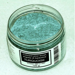 COLORANT TURQUOISE EMAUX & BARBOTINE - 100g