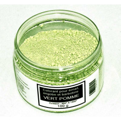 COLORANT VERT POMME EMAUX & BARBOTINE - 100g