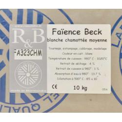 """Photo FAIENCE """"BECK"""" BLANCHE CHAM MOYEN FA323CHM  -SAC DE 10 Kg - achat terres-a-faience en ligne avec Cigale et Fourmi"""