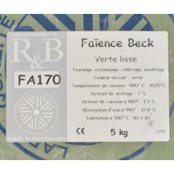 FAIENCE VERTE FA170 - SAC DE 5 KG