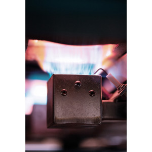 Photo FOUR A GAZ - AIR INDUIT - ROHDE TG 170 - 1320°C - achat fours-gaz-1320c-a-enfournement-vertical en ligne avec Cigale et Fourmi