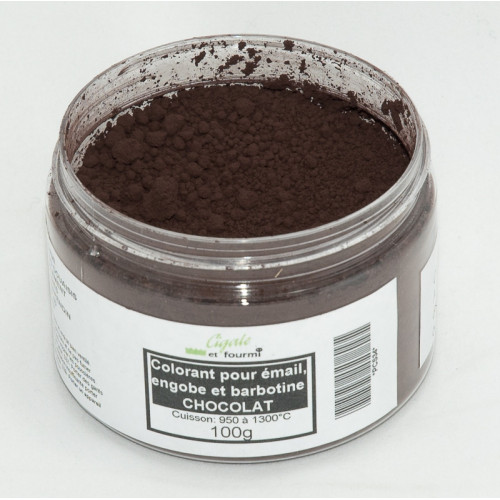 Photo COLORANT CHOCOLAT EMAUX & BARBOTINE - 100g - achat colorants-de-masse en ligne avec Cigale et Fourmi