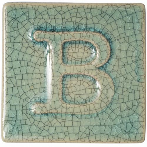 Photo B9352- EMAIL PREPARE BRILLANT CRAQUELE BLEU TURQUOISE - achat emaux-prepares-botz-1020-1060c en ligne avec Cigale et Fourmi