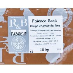 "FAIENCE ""BECK"" ROUGE CHAMOTTE FINE FA240CHF - SAC 10 KG - Emaux, Oxydes et Engobes - Cigale et Fourmi"