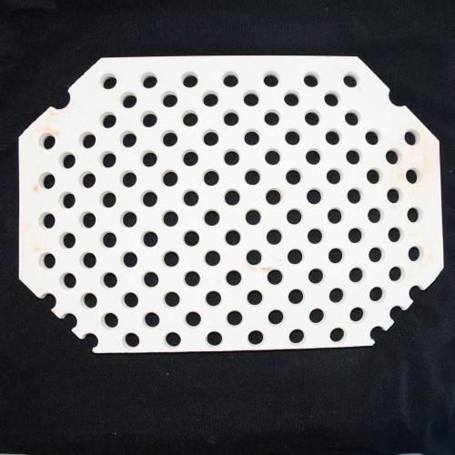 Photo PLAQUE PERFOREE OCTOGONALE - 1300°C - 360 X 250 X 15 - achat materiaux-pour-construire-son-four-raku en ligne avec Cigale et Fourmi