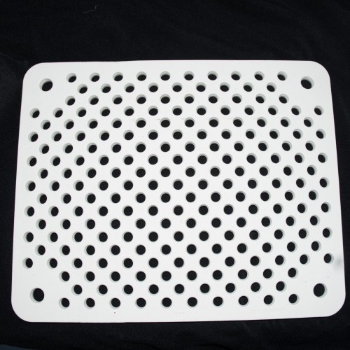 Photo PLAQUE PERFOREE RECTANGULAIRE  - 1300°C - 450 x 365 x 15 - achat materiaux-pour-construire-son-four-raku en ligne avec Cigale et Fourmi