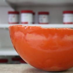 EMAIL PREPARE ORANGE BRILLANT - 200 ml - Émaux faïence liquides  BOTZ 1020°C - 1060°C - Cigale et Fourmi