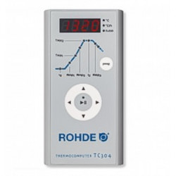 FOUR ROHDE TE110MCC - 110 LITRES AVEC ANNEAU -1300°C + TC304 - 230V MONO - Fours ROHDE série TE MCC+ - Cigale et Fourmi