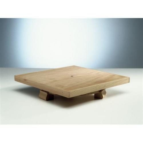 Photo TOURNETTE DE TABLE 30 X 30 -EN BOIS- - achat selles-de-sculpteur en ligne avec Cigale et Fourmi
