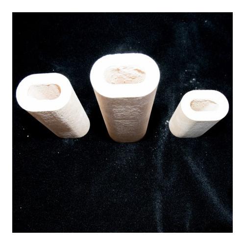 Photo QUILLE OVALE HAUTEUR 150 mm - DIAMÈTRE 60 X 40 mm - ALCORIT 1350°C - achat materiel-d-enfournement en ligne avec Cigale et Fourmi