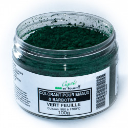 COLORANT VERT FEUILLE EMAUX & BARBOTINE - 100g - Colorants de masse - Cigale et Fourmi