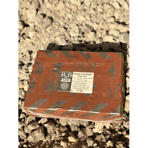 Photo FAIENCE ROUGE NORMANDE LISSE FA200 - SAC DE 10 Kg - achat terres-a-faience en ligne avec Cigale et Fourmi