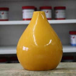 EMAIL PREPARE JAUNE VIF BRILLANT - 200 ml - Émaux faïence liquides  BOTZ 1020°C - 1060°C - Cigale et Fourmi