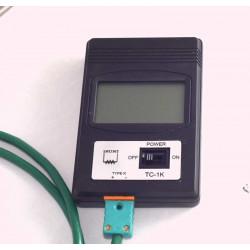 LECTEUR DIGITAL ECO - A PILE + CANNE RAKU 200 mm COUPLE K - Pyrométrie et régulations - Cigale et Fourmi