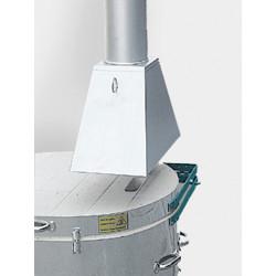 HOTTE POUR FOUR GAZ ROHDE TG - DIAM 150 mm - Fours gaz 1320°C à enfournement vertical - Cigale et Fourmi
