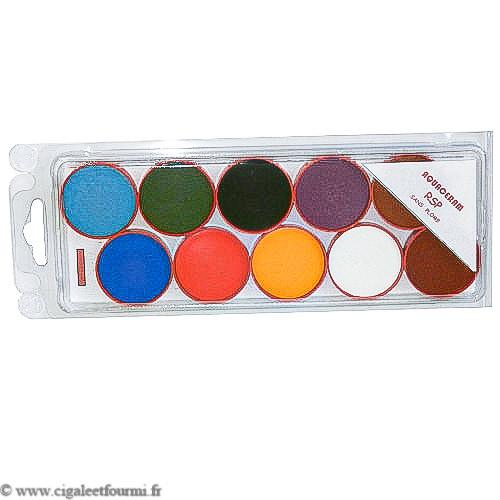 PALETTE AQUA CERAM ROUGE SANS PLOMB RSP - Ors, palettes aqua-Céram, Crayons oxydes - Cigale et Fourmi