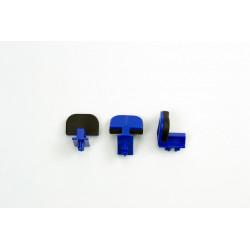 LOT DE 3 GLISSIERES BLEUES - MODELE PIECE LARGE