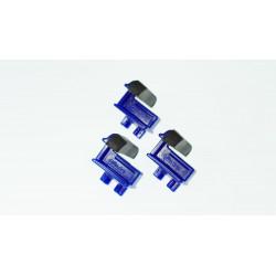 LOT DE 3 GLISSIERES BLEUES - MODELE PIECE LARGE ET BAS