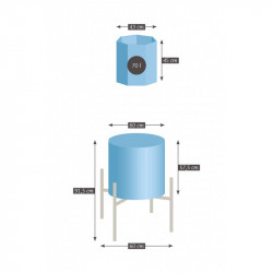 FOUR KERAMIKOS 70L - SUPER 70S - 1320°C -  MONOPHASE 230V - Fours KERAMIKOS grès - Cigale et Fourmi